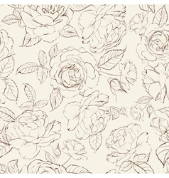 Roses seamless background vector