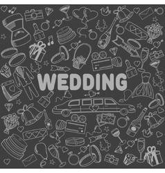 Wedding line art design vector image vector image