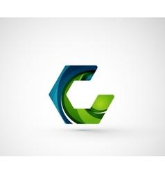 Abstract geometric company logo hexagon shape vector image