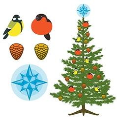 Christmas Fir Tree Natural Decor vector image