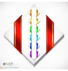 Colorful ribbons set vector image vector image