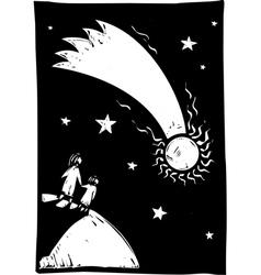 Comet in the Sky vector image vector image