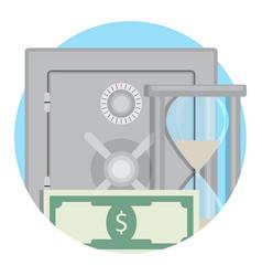 money in bank deposit safe vector image vector image