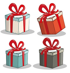 Retro Gift Boxes Set vector image