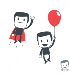 superhero icon man set031 vector image vector image