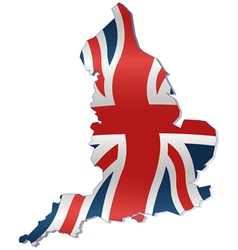 UK Map with British Flag vector image