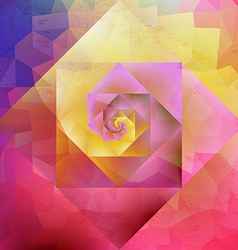 Vibrant vintage optic art geometric pattern vector
