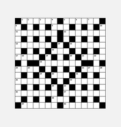 15x15 crossword puzzle empty vector image