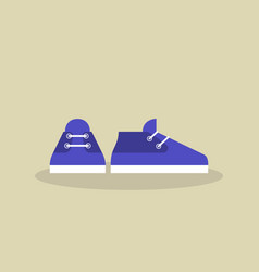 A pair of casual sport shoes icon flat vector