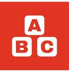 ABC building blocks icon ABC bricks design vector