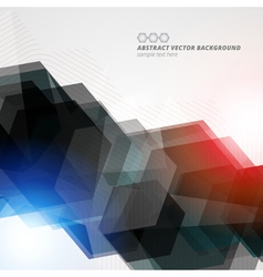 Abstract hexagon geometric color background eps10 vector image