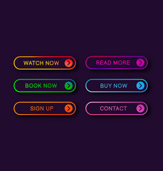 Abstract web buttons vector