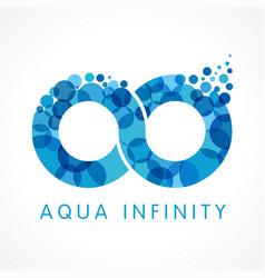 Aqua infinity logo concept vector