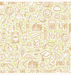 Back to school pattern with school elements vector