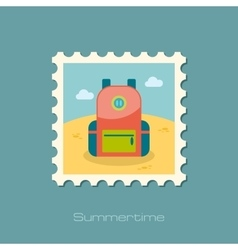 Backpack stamp Travel Summer Vacation vector image