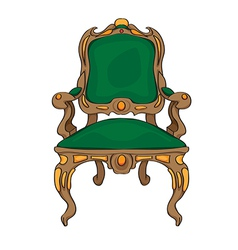 Baroque chair vector