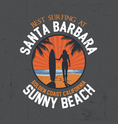 best surfing poster vector image