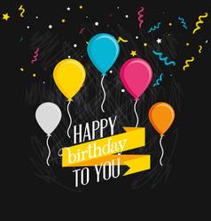 birthday balloons helium decorative vector image