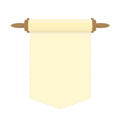 blank paper scroll vector image