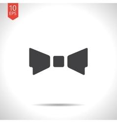bow-tie icon Eps10 vector image