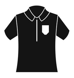 bowling polo shirt icon simple style vector image
