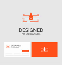 Business logo template for water monitoring clean vector