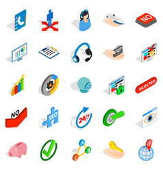 Career icons set isometric style vector