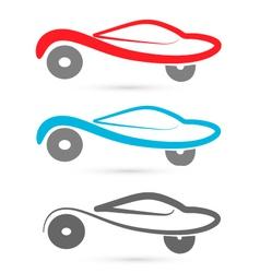 Cars silhouettes logo vector