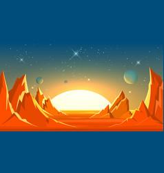 cartoon space landscape vector image