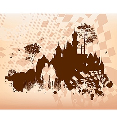 Castle Lovers Concept Background vector image