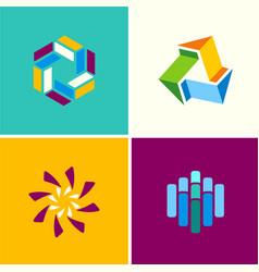circle technology logos vector image