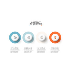 Circles with shadows infographic template vector