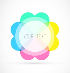 Colorful Editable Badge With Your Text vector image