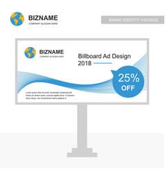 company advertisement bill board creative design vector image
