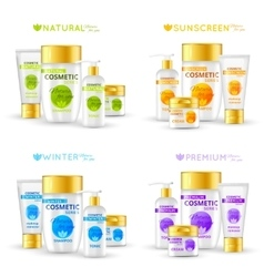 Cosmetic Series Packaging Design vector