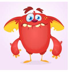 cute happy cartoon monster vector image