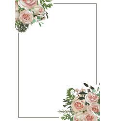 decorative golden rectangular frame with vector image