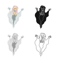 Design ghost and spook sign collection vector