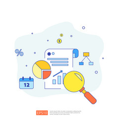 Document data report concept for investment vector