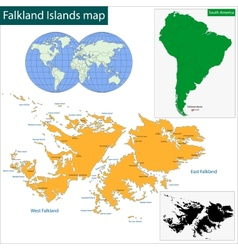 Falkland Islands map vector