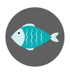 Fish flat icon vector