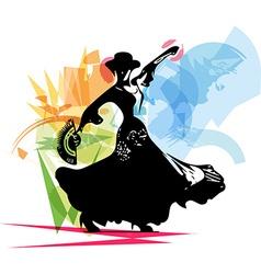 Flamenco woman dancer vector