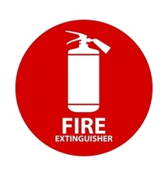 Flat Fire Extinguisher Icon with Place for vector image
