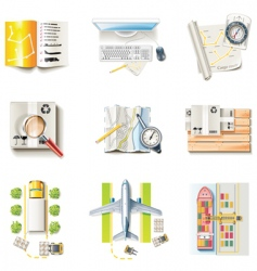 freight transportation icons vector image