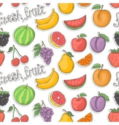 Fresh fruit seamless pattern vector image
