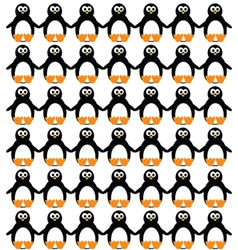 funny and sweet penguin set vector image