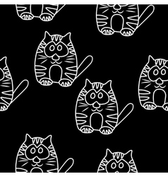 Funny Seamless pattern with cat Baby cat vector image