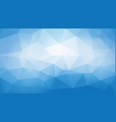 geometric blue background vector image