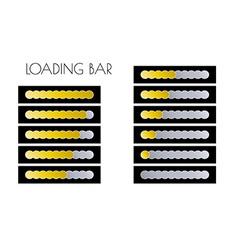 Gold loading bars vector