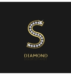 golden letter s vector image